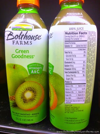 "Bolthouse Farms ""Green Goodness"" Fruit Smoothie"