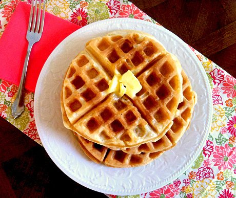 The BEST Homemade Belgian Waffles