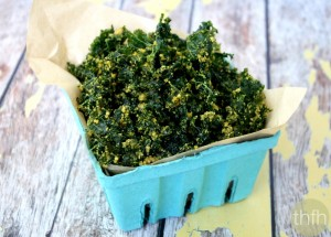 Cheezy Raw Kale Chips (Raw, Vegan, Gluten-Free, Dairy-Free, Paleo-Friendly)