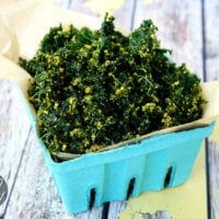 Raw Vegan Cheesy Kale Chips | The Healthy Family and Home