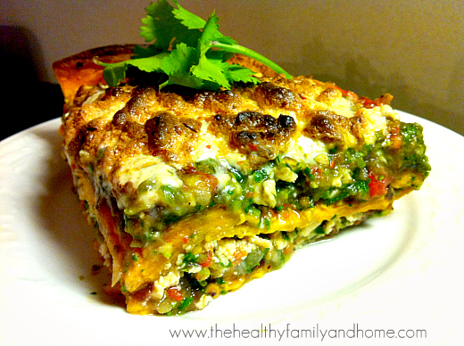 Vegan Mexican Lasagna | The Healthy Family and Home