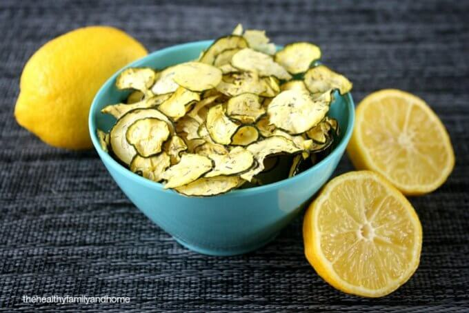 Raw Vegan Lemon Dill Zucchini Chips | The Healthy Family and Home