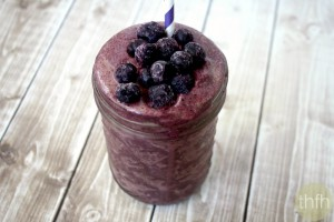Clean Eating Acai Berry and Banana Immunity Smoothie (Vegan, Gluten-Free, Dairy-Free, Paleo-Friendly, No Refined Sugar)