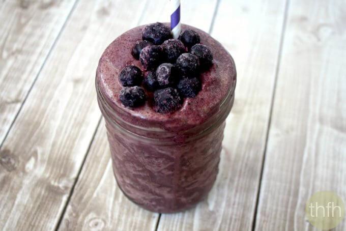 Clean Eating Acai Berry and Banana Immunity Smoothie (Vegan, Gluten-Free, Dairy-Free, Paleo-Friendly, No Refined Sugar)