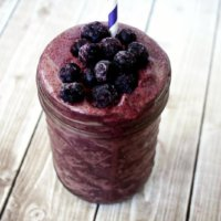 Acai Berry and Banana Immunity Smoothie | The Healthy Family and Home