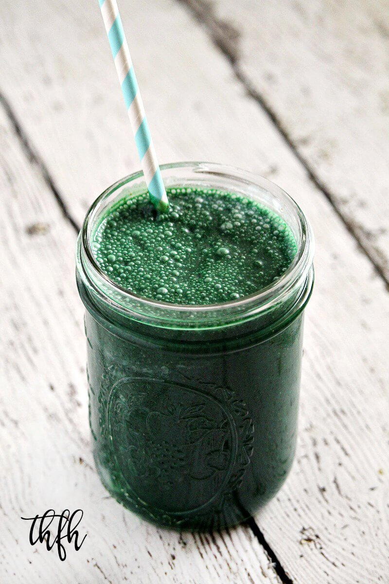 Vegan Spirulina and Hemp Protein Smoothie