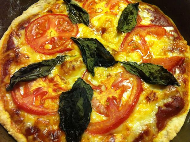 Vegan Tomato and Basil Pizza