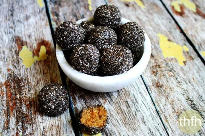Raw Chia Seed Nut Butter Balls (Raw, Vegan, Gluten-Free, Dairy-Free, Paleo-Friendly, No Refined Sugar)