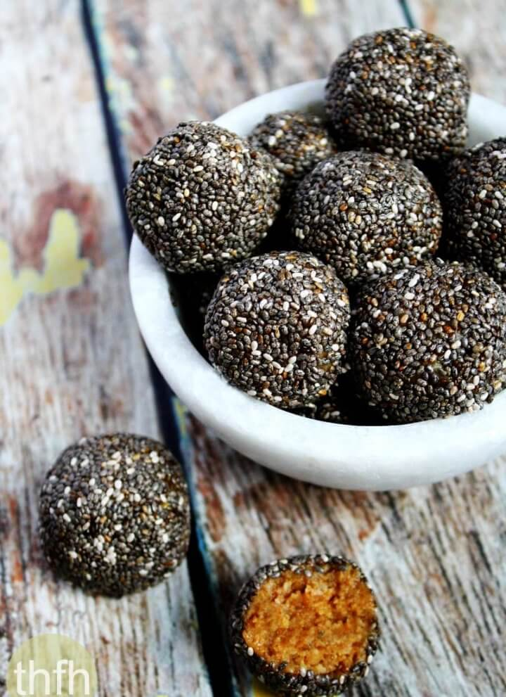 Raw Chia Seed Nut Butter Balls