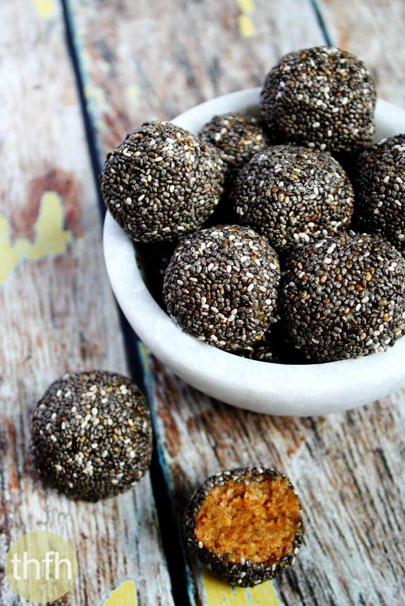 Raw Chia Seed Nut Butter Balls | The Healthy Family and Home