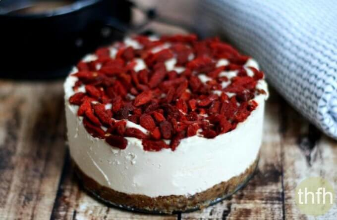 Raw Lemon and Goji Berry Cheesecake (Raw, Vegan, Gluten-Free, Dairy-Free, Egg-Free, No-Bake, Paleo-Friendly, No Refined Sugar)