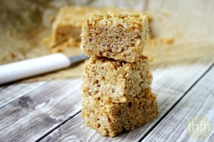 Vegan Peanut Butter Rice Crispy Treats (Vegan, Gluten-Free, Dairy-Free, No Refined Sugar)