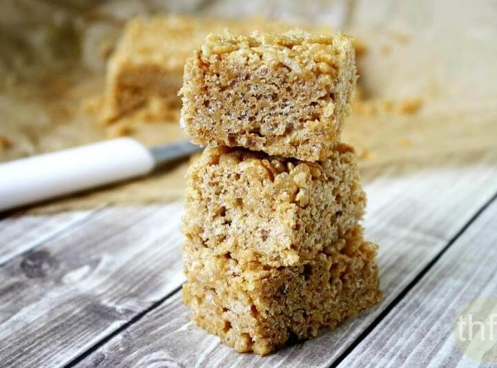 Vegan Peanut Butter Rice Crispy Treats
