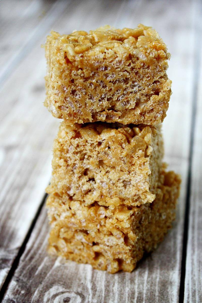 Vegan Peanut Butter Rice Crispy Treats | The Healthy Family and Home
