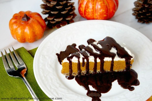 No-Bake Vegan Pumpkin Pie - Vegan, Gluten-Free, Dairy-Free, Paleo-Friendly, No Refined Sugars | The Healthy Family and Home
