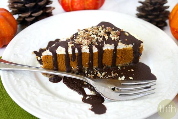 No-Bake Vegan Pumpkin Pie (Vegan, Gluten-Free, Dairy-Free, Paleo-Friendly, No-Bake, No Refined Sugar)