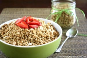 Vegan Homemade Peanut Butter Granola