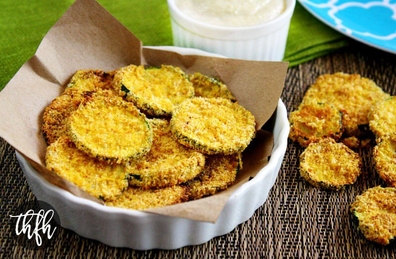 Gluten-Free Vegan Oven Baked Zucchini Chips | The Healthy Family and Home