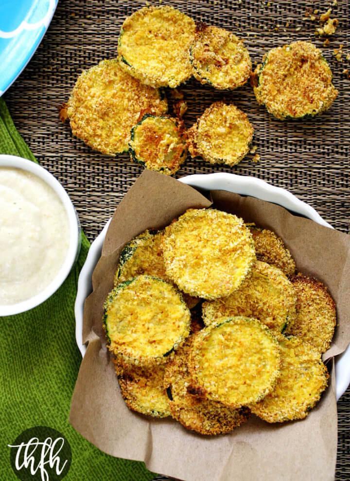 Vegan Oven Baked Zucchini Chips