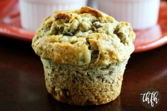 Vegan Banana Walnut Muffins (Vegan, Dairy-Free, Egg-Free, No Refined Sugar)