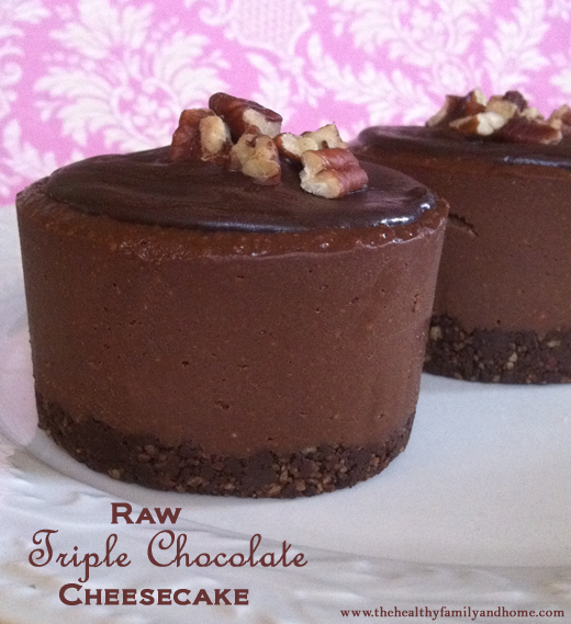 Raw Triple Chocolate Cheesecake