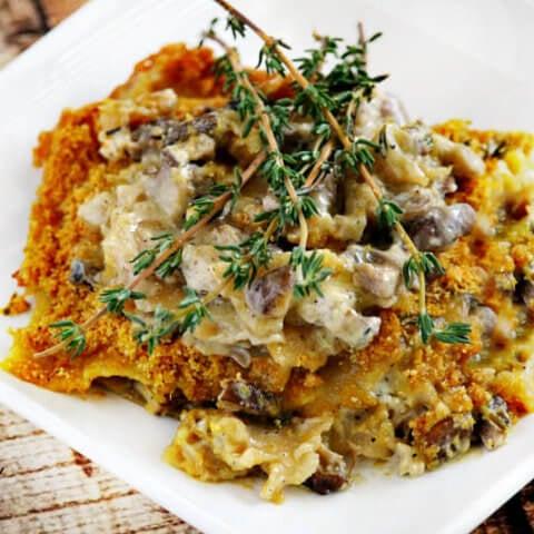 Gluten-Free Vegan Creamy Mushroom Lasagna | The Healthy Family and Home