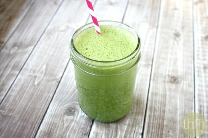 Kale and Banana Green Smoothie (Raw, Vegan, Gluten-Free, Dairy-Free, Paleo-Friendly, No Refined Sugar)