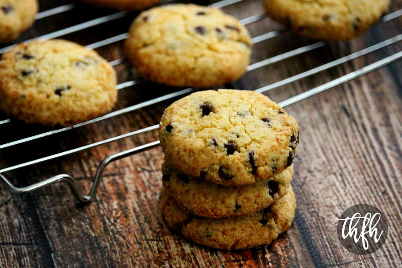 This is the best Gluten-Free, Grain-Free and Vegan Chocolate Chip Cookie recipe ever! No butter, eggs, white flour or refined sugar. Just a simple, easy, healthy and delicious chocolate chip cookie that turns out perfectly every single time! #cookies #chocolatechipcookies #baking #recipe #healthyrecipes #chocolate #chocolatechips #vegancookierecipes #glutenfreecookierecipes #cleaneatingcookierecipes #paleocookierecipes #eggfreecookierecipes #cookierecipes #grainfreecookierecipes #easycookierecipes #glutenfreevegancookierecipes #healthycookierecipes #veganchocolatechipcookies #veganglutenfreecookies #veganeasycookies