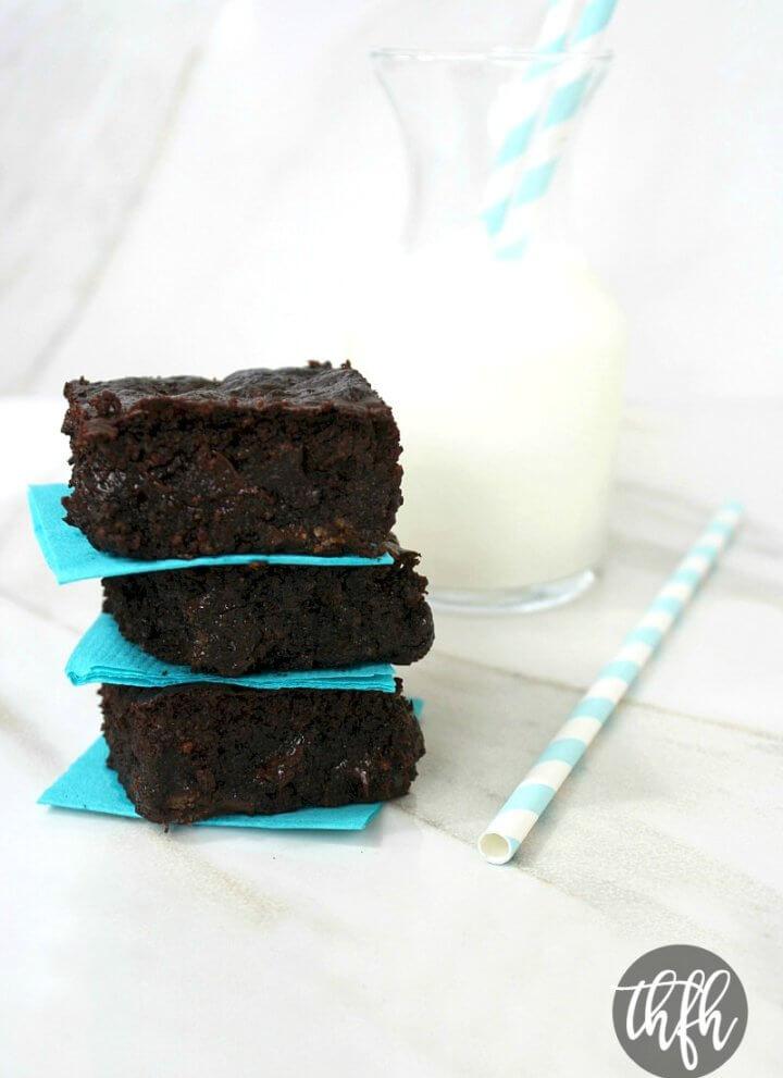 Vegan Flourless Zucchini Brownies