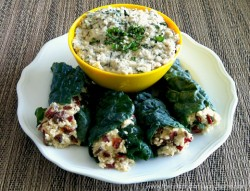 Raw-Stuffed-Kale-Leaves-with-Mint-Cashew-Aioli