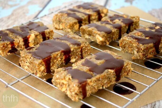 Raw Hemp Seed Bars with Cacao Drizzle (Raw, Vegan, Gluten-Free, Dairy-Free, Paleo-Friendly, No Refined Sugars)