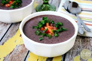 "Vegan No-Cook Black Bean Soup (""Almost Raw"", Vegan, Gluten-Free, Dairy-Free, No-Cook)"