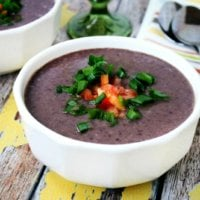 Vegan No-Cook Black Bean Soup | The Healthy Family and Home