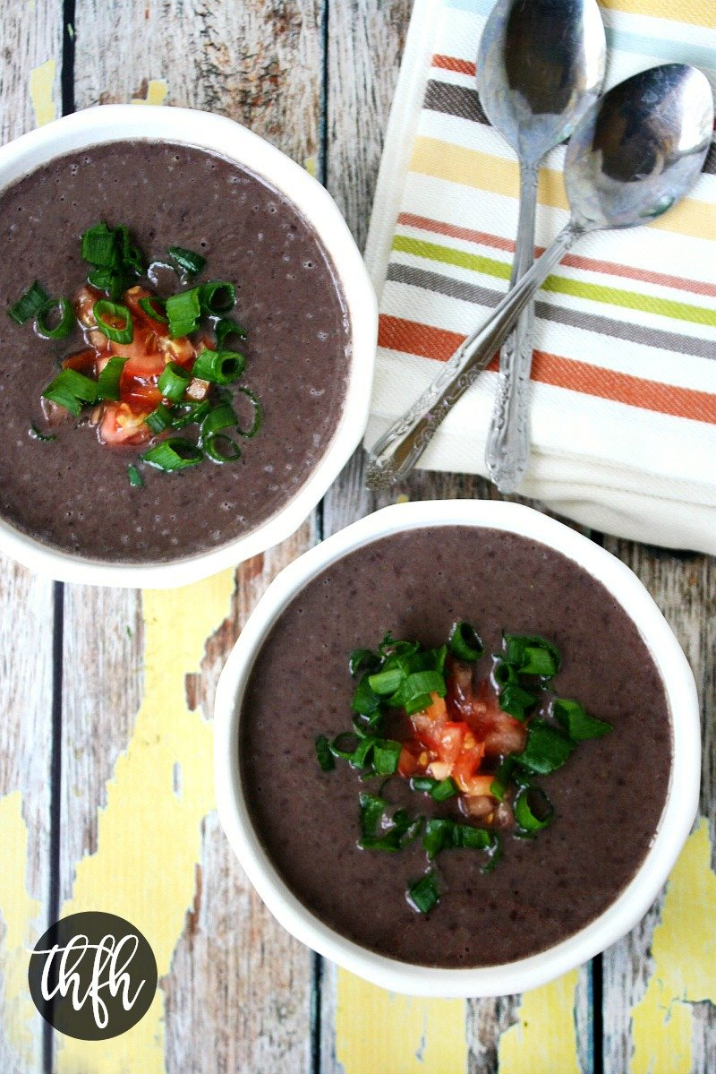 Vegan No Cook Black Bean Soup