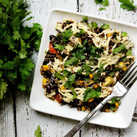 Vegan Southwest Quinoa Bake | The Healthy Family and Home