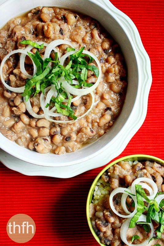 Vegan Slow Cooker Black Eyed Peas | The Healthy Family and Home