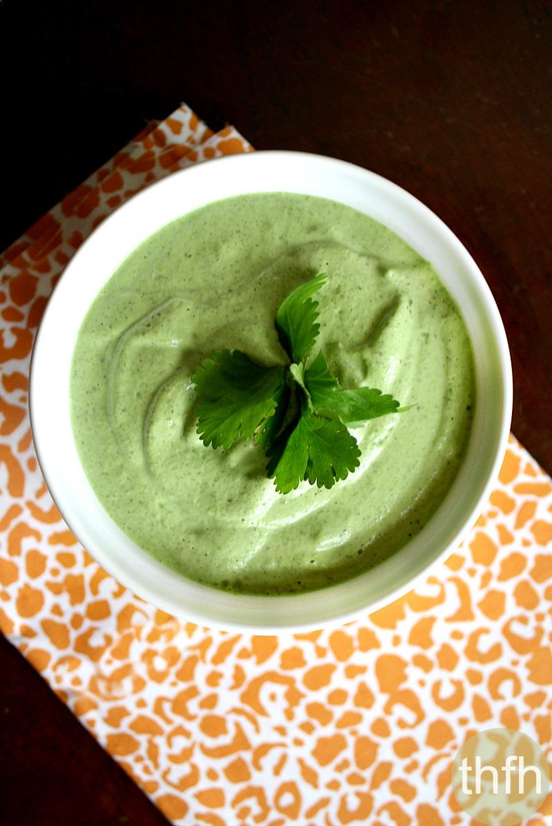 Creamy Raw Hemp Seed and Cilantro Dressing | The Healthy Family and Home