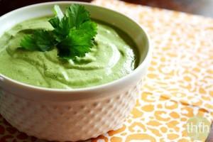 Creamy Raw Hemp Seed and Cilantro Dressing (Raw, Vegan, Gluten-Free, Dairy-Free, Egg-Free, Paleo-Friendly)