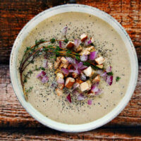 Raw Vegan Cream of Mushroom Soup | The Healthy Family and Home