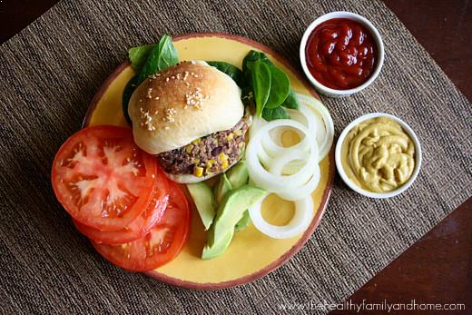 Vegan Black Bean and Quinoa Veggie Burgers | The Healthy Family and Home