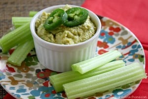 Raw Vegan Jalapeno and Lime Hummus