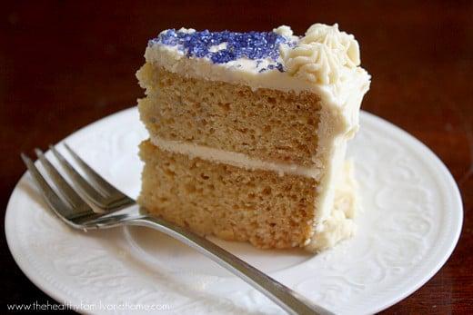 Vanilla Vegan Birthday Cake With Buttercream Icing