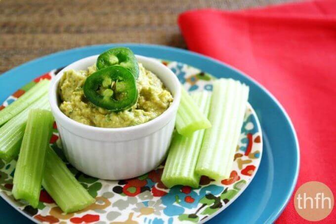 Vegan Jalapeno and Lime Hummus (Vegan, Gluten-Free, Dairy-Free)