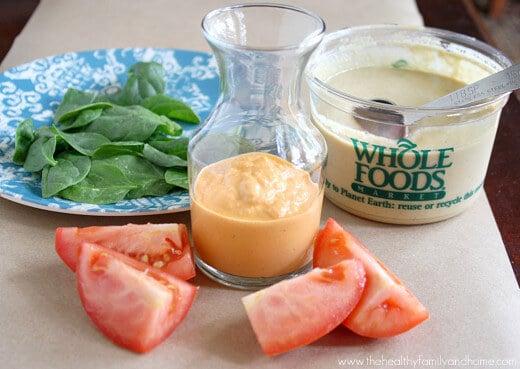 Raw Vegan Roma Tomato and Tahini Dressing (Raw, Vegan, Gluten-Free, Dairy-Free, Paleo-Friendly)