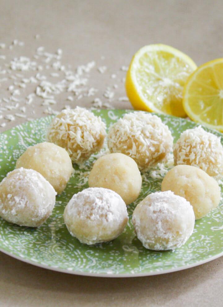 Raw Vegan Lemon Meltaway Balls