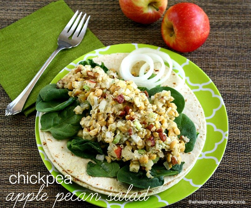 Chickpea Apple Pecan Salad - Vegan, Gluten-Free, Dairy-Free | The Healthy Family and Home