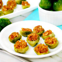 Raw Vegan Chipotle Almond Stuffed Brussels Sprouts | The Healthy Family and Home