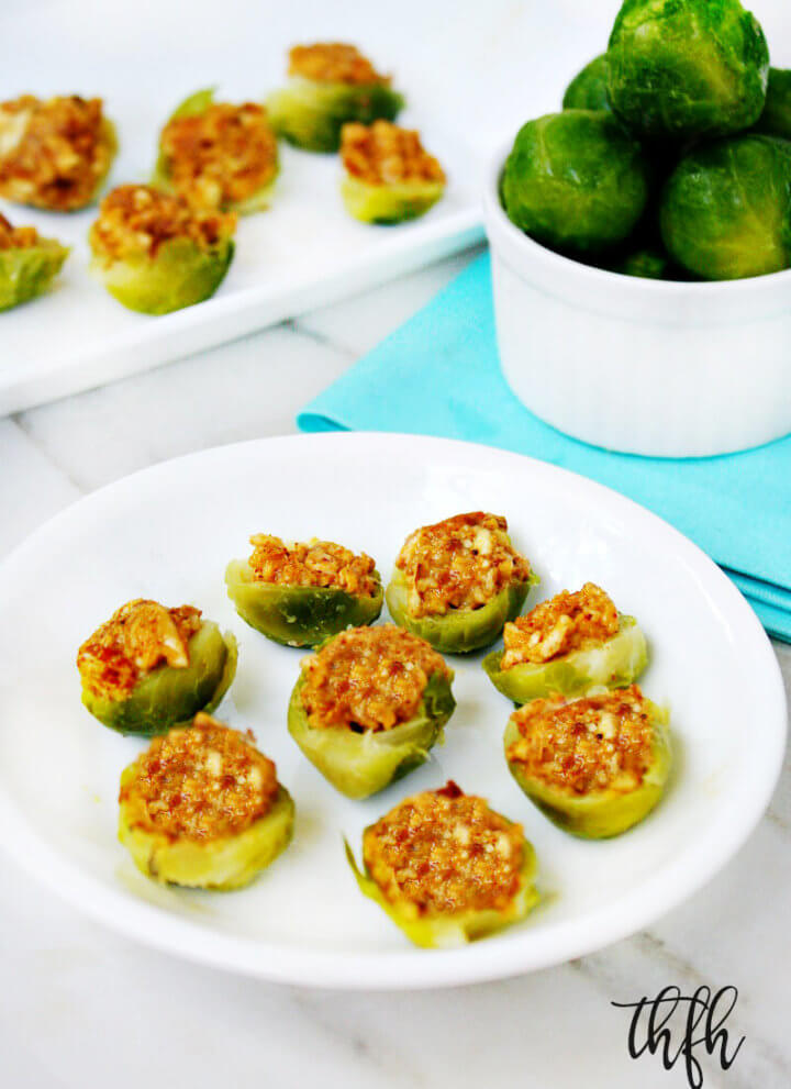 Raw Vegan Chipolte Almond Stuffed Brussels Sprouts