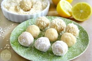 Lemon Meltaway Balls  (Raw, Vegan, Gluten-Free, Dairy-Free, Egg-Free Paleo-Friendly, No Refined Sugar)