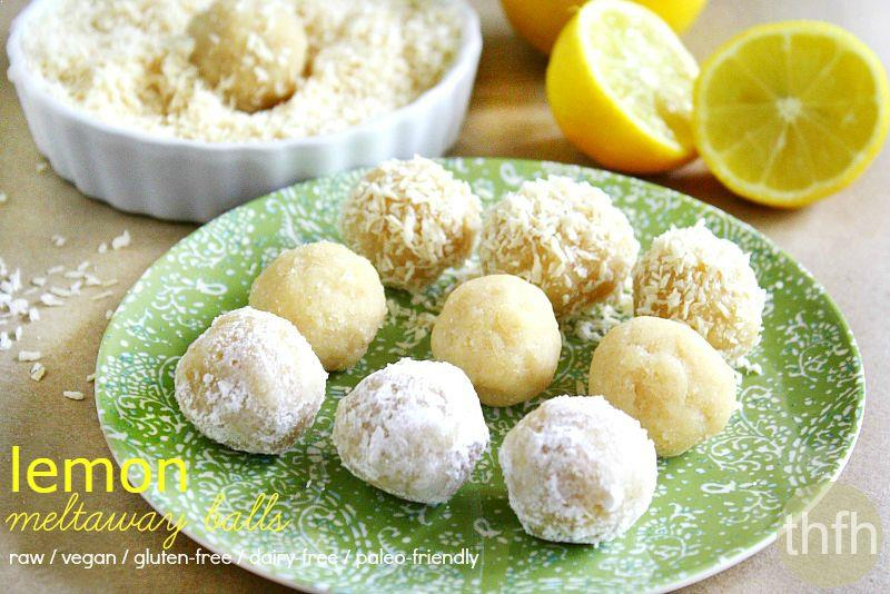 Raw Vegan Lemon Meltaway Balls | The Healthy Family and Home